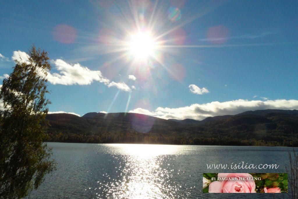 21 dagars healing sjö og sol og logo